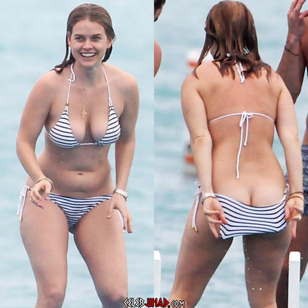 Alice Eve bikini ass tits